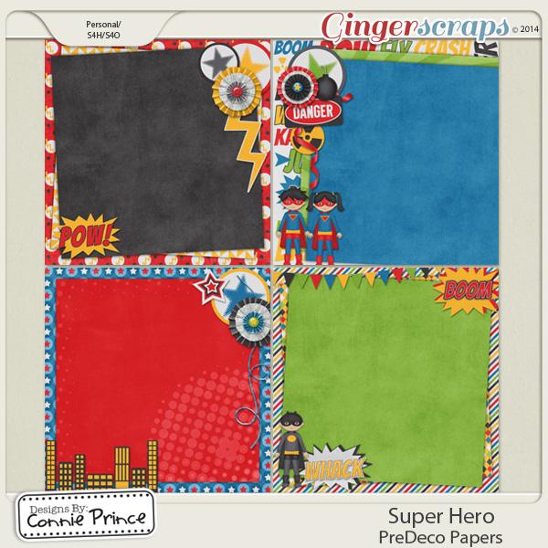 Super Hero - PreDeco Papers