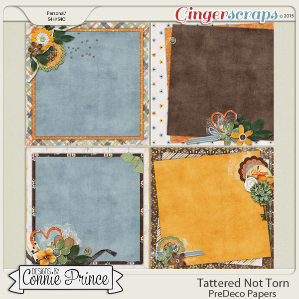 Tattered Not Torn - PreDeco Papers