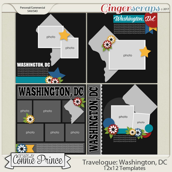 Travelogue Washington, DC - 12x12 Temps (CU Ok)