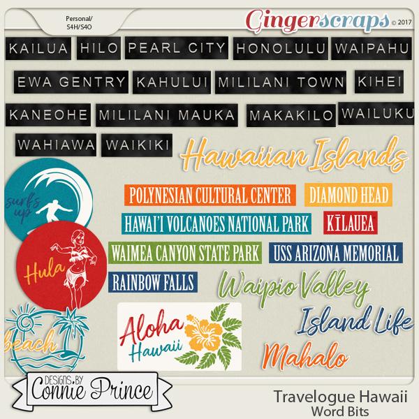 Travelogue Hawaii - Word Bits