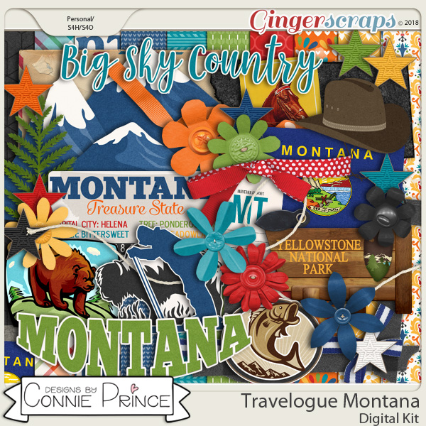 Travelogue Montana - Kit by Connie Prince