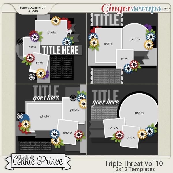 Triple Threat Volume 10 - 12x12 Temps (CU Ok)