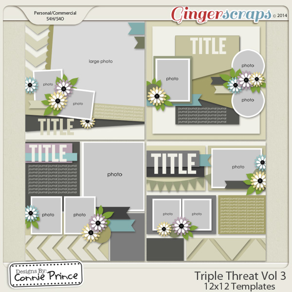 Retiring Soon - Triple Threat Volume 3 - 12x12 Temps (CU Ok)