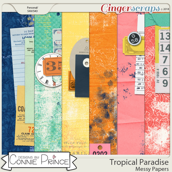 Tropical Paradise - Messy Papers by Connie Prince