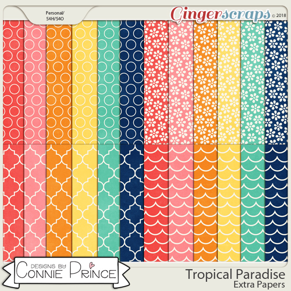 Tropical Paradise - Extra Papers by Connie Prince