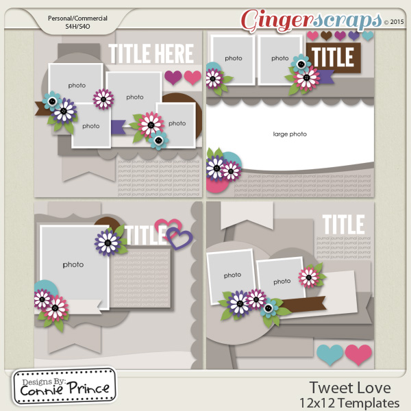 Tweet Love - 12x12 Temps (CU Ok)
