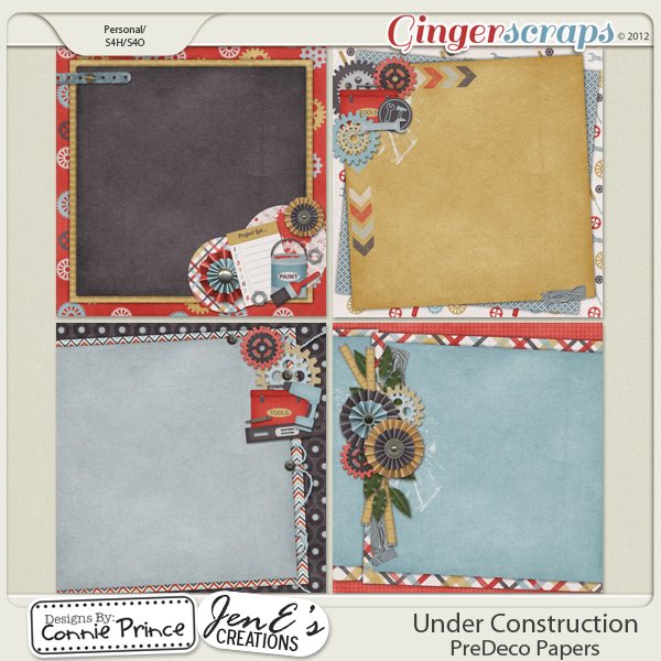 Retiring Soon - Under Construction - PreDeco Papers