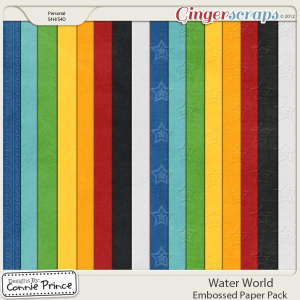 Retiring Soon - Water World  - Embossed Papers