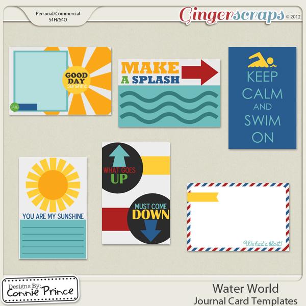 Retiring Soon - Water World  - Journal Card Templates (CU Ok)