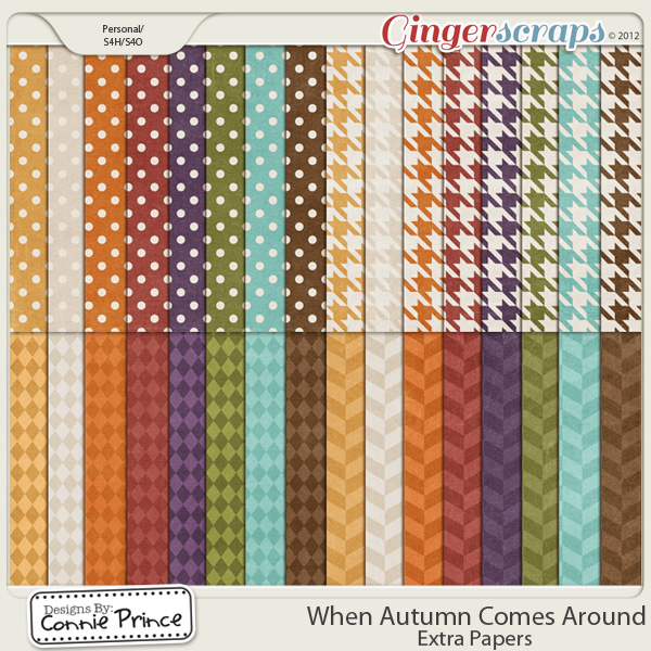 Retiring Soon - When Autumn Comes Around - Extra Paper Pack