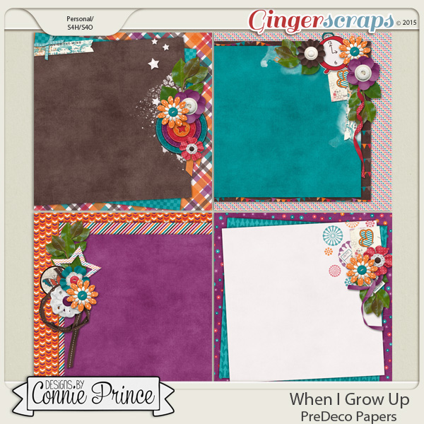 When I Grow Up - PreDeco Papers