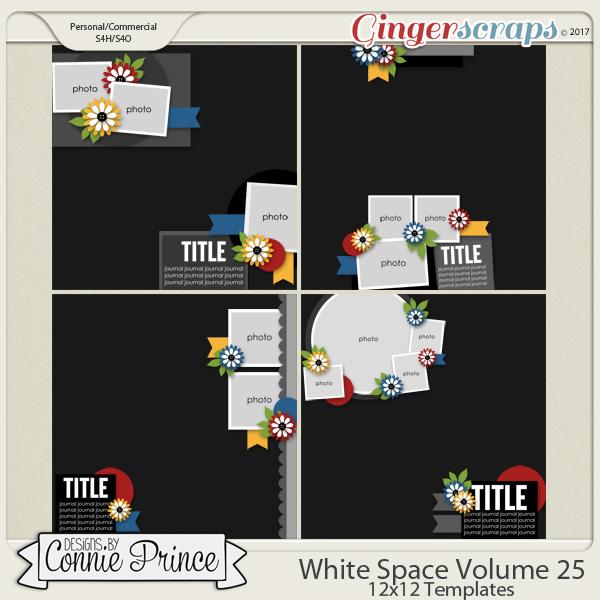 White Space Volume 25 - 12x12 Temps (CU Ok) by Connie Prince