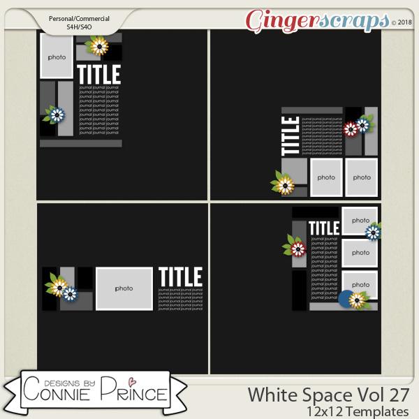 White Space Volume 27 - 12x12 Temps (CU Ok) by Connie Prince