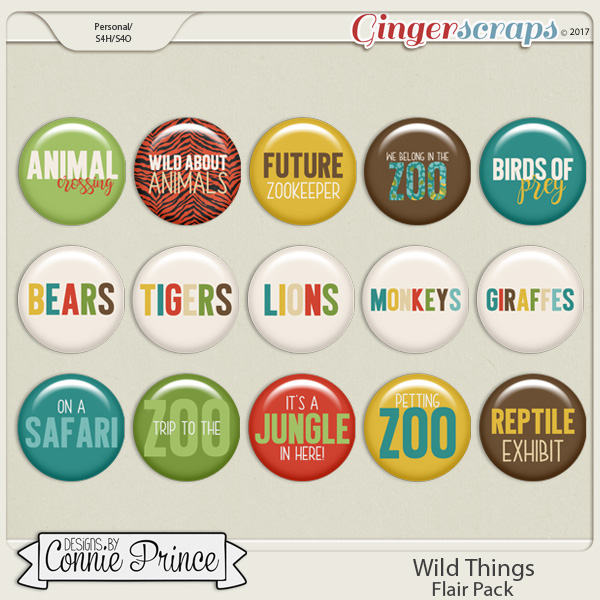 Wild Things - Flair Pack