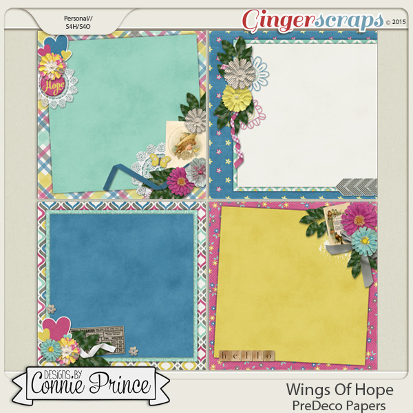 Wings Of Hope - PreDeco Papers