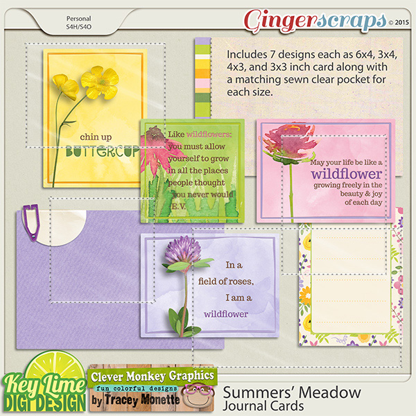 Summers Meadow Journal Cards by Key Lime Digi Design & Clever Monkey Graphics