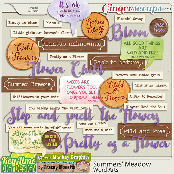 Summers Meadow Word Art by Key Lime Digi Design & Clever Monkey Graphics