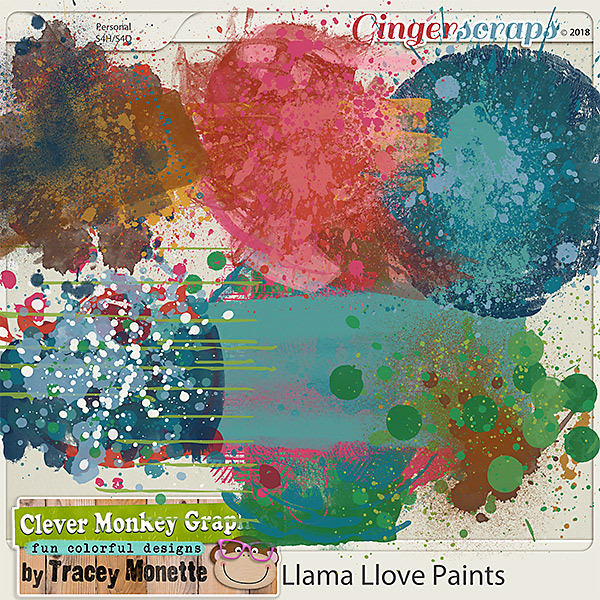 Llama Love Paints by Clever Monkey Graphics