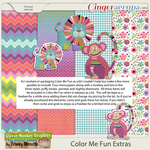 Color Me Fun Extras by Clever Monkey Graphics