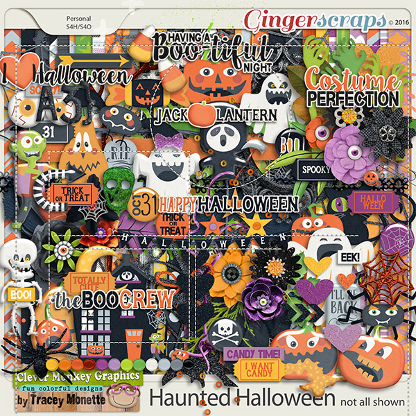 Haunted Halloween by Clever Monkey Graphics