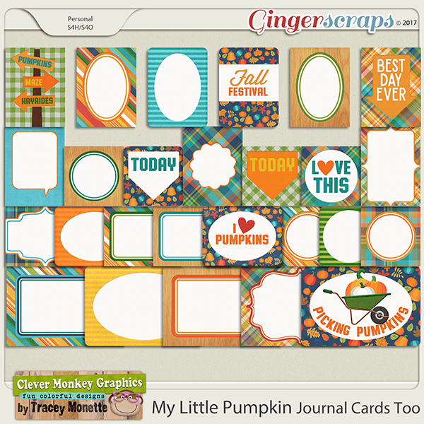 My Little Pumpkin Journal Cards Too by Clever Monkey Graphics