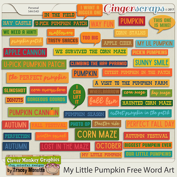 free word arts for my little pumpkin