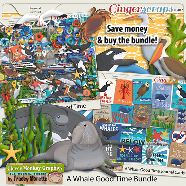 A Whale Good Time Bundle by Clever Monkey Graphics