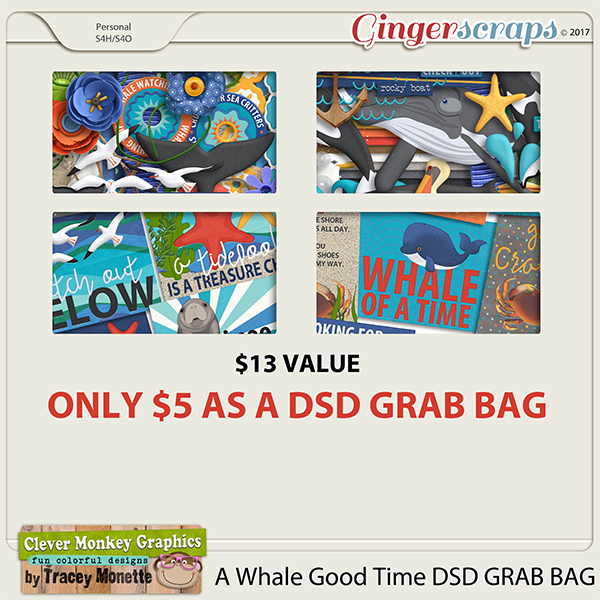 A Whale Good Time DSD Grab Bag by Clever Monkey Graphics