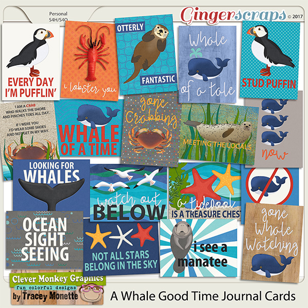 A Whale Good Time Journal Cards by Clever Monkey Graphics