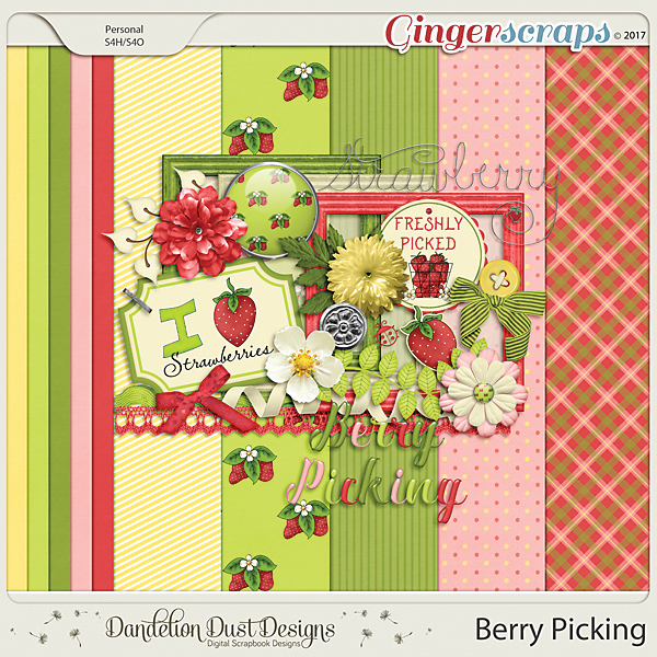 Berry Picking Digital Scrapbook Kit By Dandelion Dust Designs