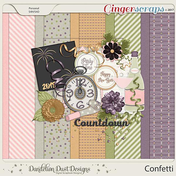 Confetti Digital Scrapbook Kit by Dandelion Dust Designs