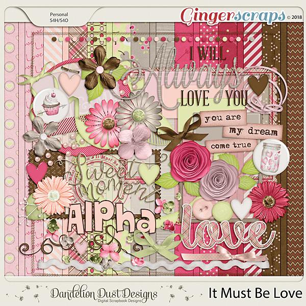 It Must Be Love Digital Scrapbook Kit By Dandelion Dust Designs