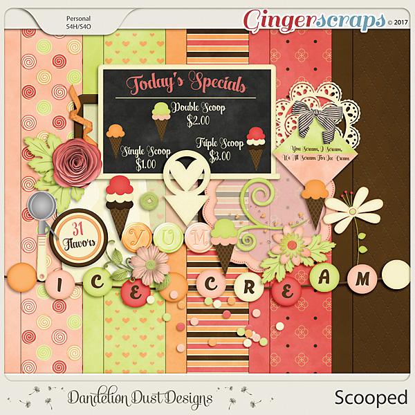 Scooped Digital Scrapbook Kit By Dandelion Dust Designs