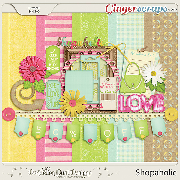 Shopaholic Digital Scrapbook Kit By Dandelion Dust Designs