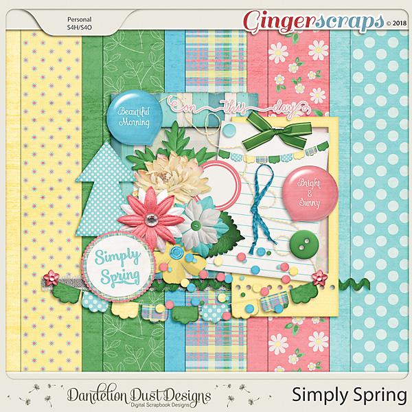 Simply Spring Digital Scrapbook Kit By Dandelion Dust Designs