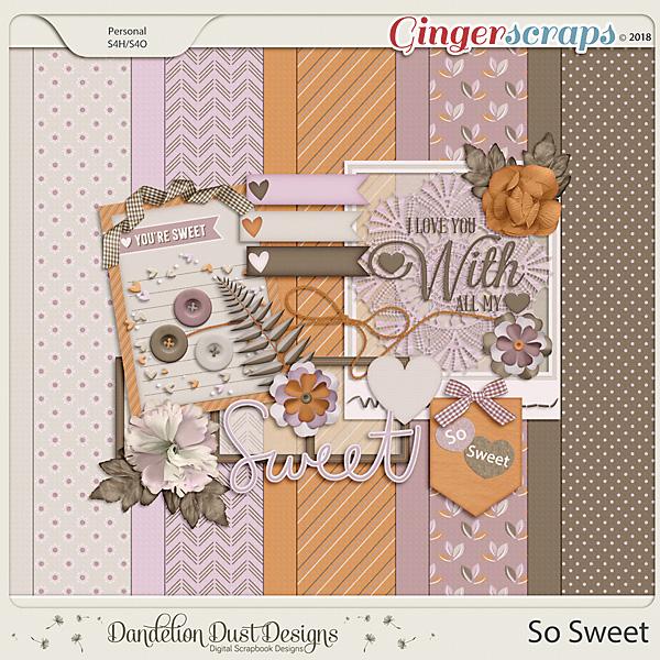 So Sweet Digital Scrapbook Kit By Dandelion Dust Designs