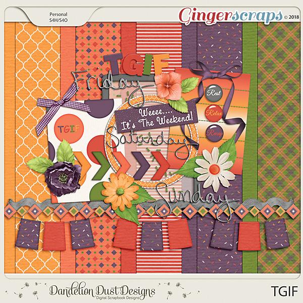 TGIF Digital Scrapbook Kit By Dandelion Dust Designs