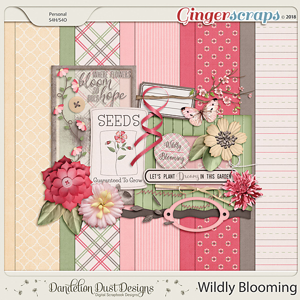 Wildly Blooming Digital Scrapbook Kit By Dandelion Dust Designs
