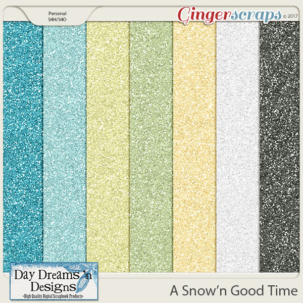 A Snow'n Good Time {Glitter Papers} by Day Dreams 'n Designs