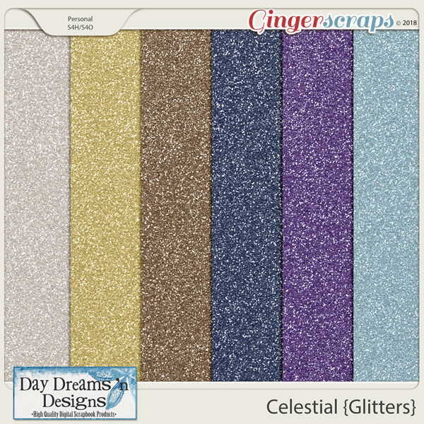 Celestial {Glitters Papers} by Day Dreams 'n Designs