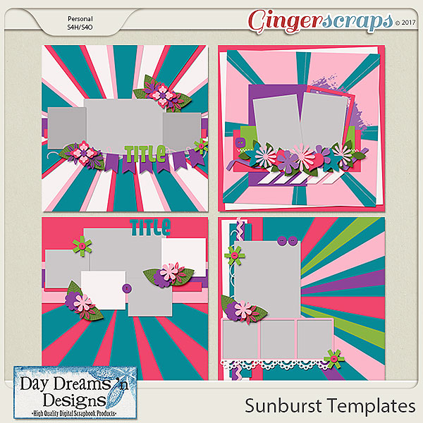 Sunburst {Templates} by Day Dreams 'n Designs