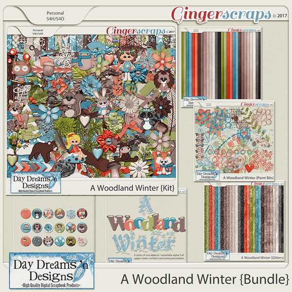 A Woodland Winter {Bundle Collection} by Day Dreams 'n Designs