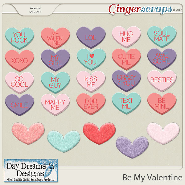 Be My Valentine {Hearts} by Day Dreams 'n Designs