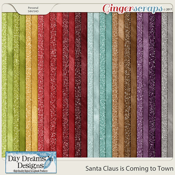Santa Claus is Coming to Town {Glitter & Shimmer Papers} by Day Dreams 'n Designs