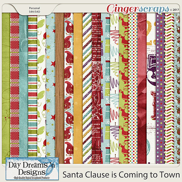 Santa Claus is Coming to Town {Papers} by Day Dreams 'n Designs