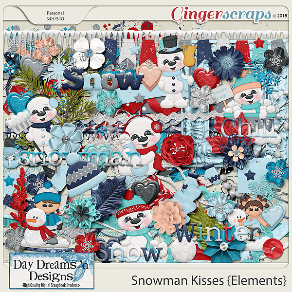 Snowman Kisses {Elements} by Day Dreams 'n Designs