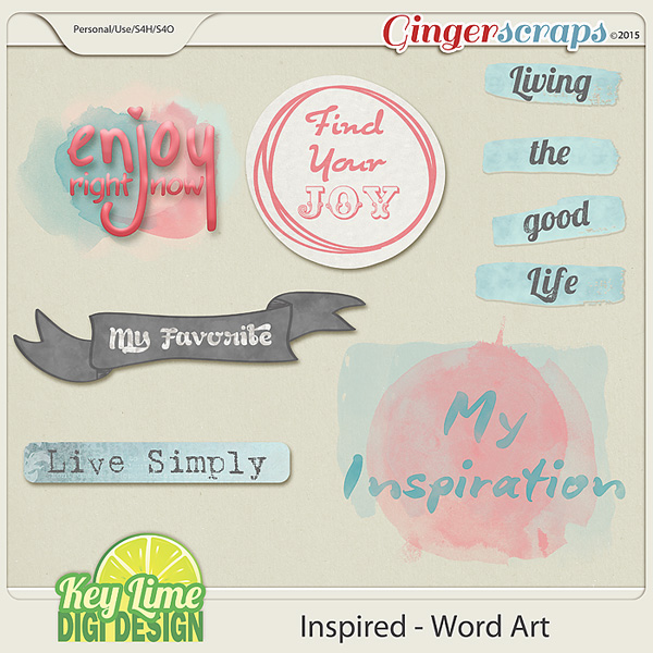 Inspired Word Art