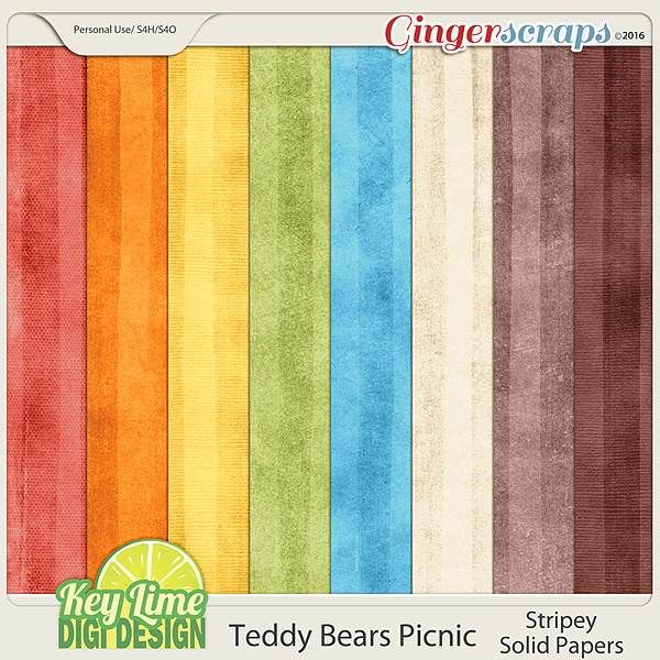 Teddy Bears Picnic Solid Papers by Key Lime Digi Design