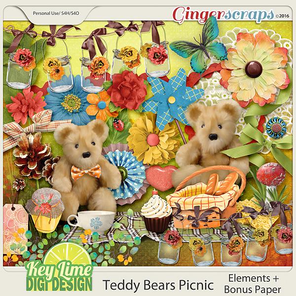 Teddy Bears Picnic Elements by Key Lime Digi Design