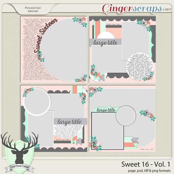 Sweet 16 Vol 1 by Dear Friends Designs